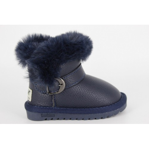 Cizme copii darkblue fur