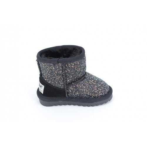 Cizme Copii Tip UGG Black Sparkle
