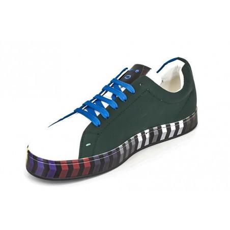 Pantofi Sneakers piele multicolori