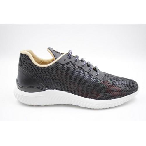 Sneakers barbati negru/multicolor