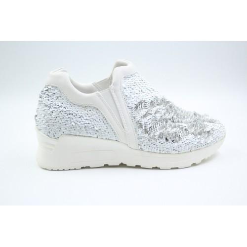 Pantofi sport white sequins