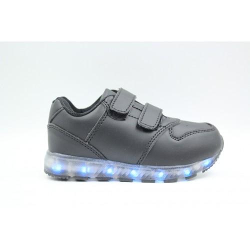 Pantofi sport copii cu led Black