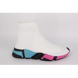 Ghete classic socks white