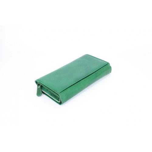Portofel piele verde V911
