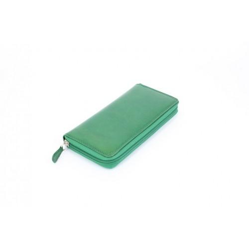 Portofel piele verde V923