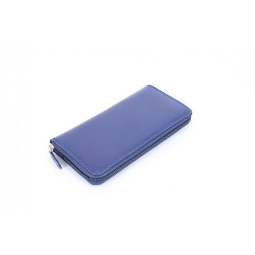 Portofel piele blu V923
