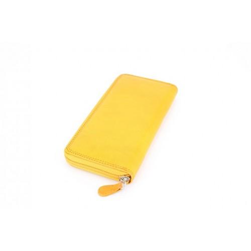 Portofel piele giallo V923